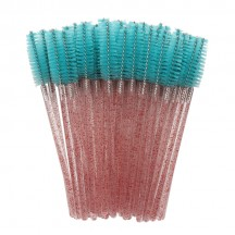 Eyelash Brush/Pink Rod Dark Green Brush Head