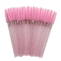 Eyelash Brush/Bright Pink Rod Pink Brush Head
