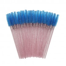 Eyelash Brush/Bright Pink Rod Blue Brush Head