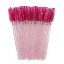 Eyelash Brush/Bright Pink Rod Rose Red Brush Head